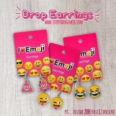 Emoji Jewelry, Emoji Earrings, Emoji Stickers, Great Gifts, Iphone, Birthday, Fun, Instagram, Hipster Stuff