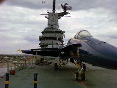 The deck of the Lexington, Corpus Christi TX.