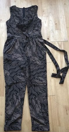 2c90172fa270 Topshop jumpsuit size 10 snakeskin brown black  fashion  clothing  shoes   accessories  womensclothing  jumpsuitsrompers (ebay link)