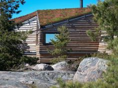 Image 2 of 18 from gallery of Villa Krona / Helin & Co Architects. Photograph by Pekka Helin Green Architecture, Landscape Architecture, Organic Architecture, Sedum Roof, Sauna House, Green Roof System, Timber Buildings, Living Roofs, Modern Farmhouse