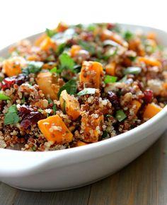 Quinoa, Sweet Potato, & Cranberry Stuffing