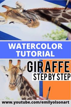 How to Paint a Realistic Giraffe With Watercolors// Follow along with this easy step-by-step narrated tutorial and learn how to paint a realistic giraffe with watercolours!