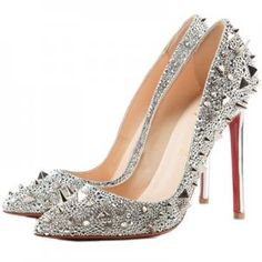 Christian Louboutin Pigalili 120mm Pointed Toe Pumps Silver [CLPTPS28] - $125.00 : Designershoes-shopping, World collection of Top Designer high heel UP TO 90% OFF!