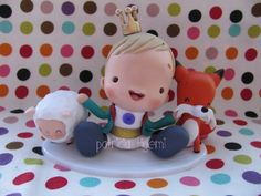 The Little Prince by Patricia Tiyemi The Little Prince, Little Princess, Jumping Clay, Clay Baby, Fondant, Biscuits, Polymer Clay, Baby Boy, Baby Shower