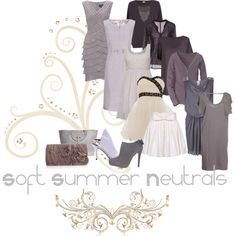 """Soft Summer Neutrals"" by ashleyrhardt on Polyvore"