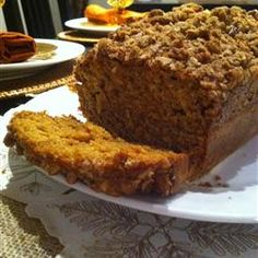 Downeast Maine Pumpkin Bread...  It makes two loaves. but the keys are: real butter, 2 cups of dark brown sugar, 1 cup of white sugar, and put a little more spices in it! When it's done, top off with honey butter while it's still hot. Serve ASAP! :)-- love, Sarah C!