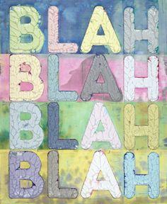 Mel Bochner, 'Blah Blah Blah (MB5298)', 2017 Collage, Pastel Palette, Word Art, Pretty Little, Artsy, Kids Rugs, Neon, Artwork, Pink