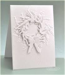 """Résultat de recherche d'images pour """"white on white christmas cards"""""""