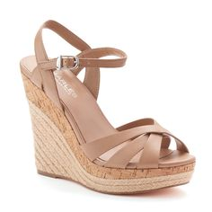 Style Charles by Charles David Adel Women's Espadrille Wedge Sandals, Teens, Size: Beig/Green (Beig/Khaki) Womens Espadrilles Wedges, Women's Espadrilles, Platform Wedge Sandals, Wedge Shoes, Cute Shoes, Me Too Shoes, Fashion Heels, Girl Fashion, Flip Flop Shoes