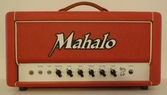 Mahalo KATY66 50 Watt Boutique Guitar Amp Head Made in USA KT66 Tube Red Tolex