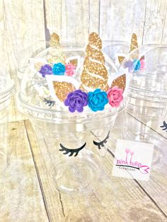 Unicorn cups, favor cups, popcorn cups, fruit cups by PinkTulipCreations on Etsy