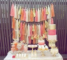 Cute Wedding Dress, Fall Wedding Dresses, Wedding Day, Wedding Gold, Party Wedding, Rose Gold, Pink And Gold, Table Rose, Festa Party