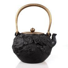 Hierro fundido olla de hierro cubierta de cobre olla olla de hierro fundido tetera de agua juego de té(China (Mainland))