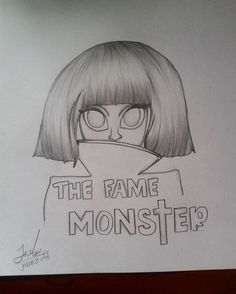 the fame monster lady gaga draw by Jasson st Art