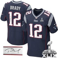 Nike Patriots 12 Tom Brady Navy Blue Team Color Super Bowl XLIX Men s  Stitched NFL Elite c61477f6a