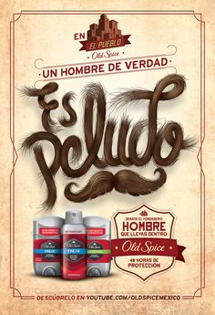 Old Spice Letterings on Behance