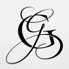 i just finished another wedding monogram for a bride on my etsy shop. the couples last names both start with the letter G. She wanted feminine and masculine letters for the monogram and after a month collaboration she loved the results. Wedding Logo Design, Wedding Logos, Monogram Wedding, Monogram Logo, Monogram Letters, Letter G Tattoo, Letter Logo, G Calligraphy, Schrift Tattoos