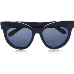 286fb95ecf38 Karen Walker Starburst cat-eye acetate sunglasses ($300) ❤ liked on Polyvore  featuring