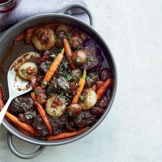 Jacques Pepin's beef stew recipe is always a hit with his chef friends. He braises the beef in robust red wine to get a rich, luscious stew with tender meat.