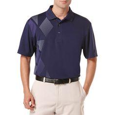 Ben Hogan Performance Vertical Argyle Print Short Sleeve Polo Shirt