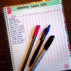 Monthly Task Tracker in #ErinCondren Life Planner