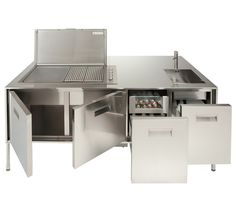 Cooking in the garden with the compact outdoor kitchen artusi, modern dekoo