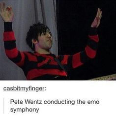 You just hear the groaning of those who mess up their eyeliner <<<< the black parade beckons