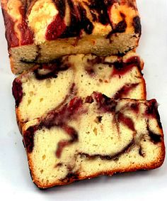 Double Berry Swirl Yogurt Quick Bread Recipe