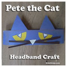 Afteryour preschool and kindergarten students makethis Pete the Cat craft, have them wear them durng story time and game activities. What you need:Blue craft paperYellow craft paperWhite craft paperBlack craft paperGlueScissors