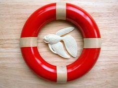 Ansteckbroschen - ❥ Tropical / Fisch in Elfenbein ❥ filigrane Bro... - ein Designerstück von BelleEtBete bei DaWanda