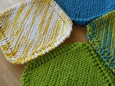 pretty knitted potholders
