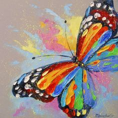 Image result for butterfly paintings acrylic