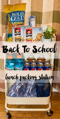 Back To School Lunch Packing Station  It is almost time for back to school lunch packing. I'm all set with my new lunch packing station. Are you ready?  #BackToSchool  #AHugeSale #cbias AD #Jewel-Osco