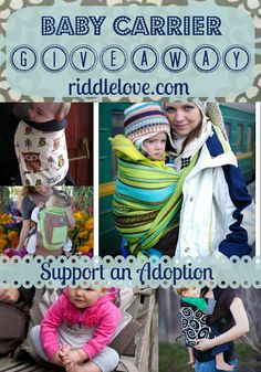 riddlelove: Support An Adoption! A Baby Carrier Review & GIVEAWAY!