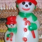 Christmas Decorations, blowmold, snow man, 2 sided!! indoor or outdoor