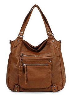 Scarleton Soft Washed Front Multi Pocket Shoulder Bag H178304 - Brown - http://leather-handbags-shop.com/scarleton-soft-washed-front-multi-pocket-shoulder-bag-h178304-brown/