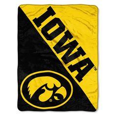Iowa Hawkeyes Blanket 46x60 Micro Raschel Halftone Design Rolled