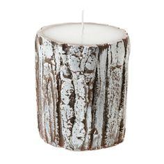 Kerze Holzoptik, braun, 7,99 €