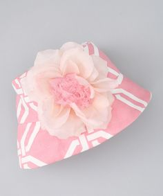 7dc44579aeb Soft Pink  amp  White Elle Bucket Hat - Infant