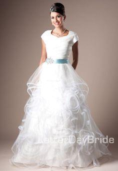 Modest Wedding Dress, Aldabella   LatterDayBride & Prom
