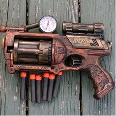 Steampunk gun Victorian Nerf N-Strike Maverick Zombie Fall Out Halo Soft Dart