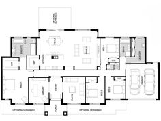 JG King homes - The Sovereign 310 floor plan. Bedroom House Plans, House Floor Plans, Architecture Plan, Architecture Details, Kings Home, House Blueprints, House Inside, New Home Designs, Future House