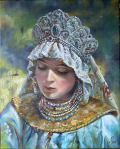Russian beauty... according Konstantin Jegorowicz Makowski  Katarzyna Piotrowska Lass