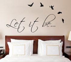 Let It Be The Beatles Music Text Quote Wall Sticker Vinyl Decal for Living, Dining Room or Bedroom. Art DIY Decor Thoughts Mural! on Etsy, $12.99
