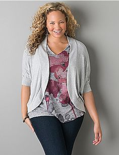 Knit cocoon cardigan sweater $44.95