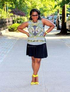 In LOVE with this look from Sandee of CurvEnvy! #fashion #blogger #style