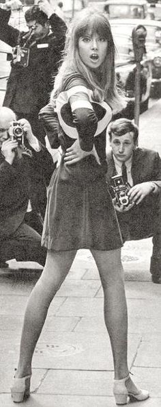 Pattie Boyd. The shoes and the dress.