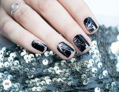 Winter Nails Designs - My Cool Nail Designs Nail Art Designs, Winter Nail Designs, Christmas Nail Designs, Christmas Nails, Design Art, Garra, New Year's Nails, Glitter Nail Art, Easy Nail Art
