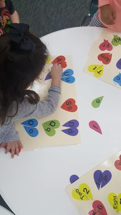 Valentines Day letter and number matching file folder game! Great for letter recognition and even letter sounds!!