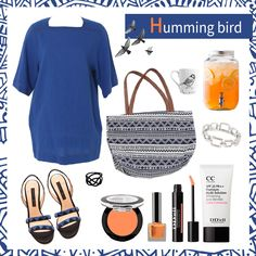 [Sharea Styling tips] Humming bird Items used:  Top - SHAREA Blue linen woman tops & Dress  Bag - SHAREA Ethnic woman casual big bags navy Bracelet - SHAREA Square ring metal woman bracelet Shoes - CHRISSIE MORRIS Tina pythin sandals Eyeshadow - SHAREA Illumination eye shadow style 5 orange Nails - SHAREA Shiny nail polish orangish line color 1 Lip - SHAREA Emulsion gloss tint peach More at : https://plus.google.com/b/106434001582353595177/106434001582353595177/posts